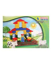 Peacock Kinder Blocks - Farm House, Multicolor