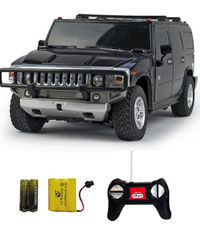 Shopcros R/C Rechargeable 1: 24 Hummer H2 Suv, black