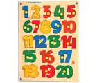 Skillo 120 Number Shape Tray (With Knobs) (Multicolor)