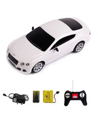 Shopcros R/C Rechargeable 1: 24 Bentley Continental, white