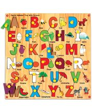 Skillo Capital Alphabet Tray With Picture (With Knobs) (Multicolor)