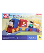 Peacock Bebe Blocks - Fun Puzzle Transportation, Multicolor