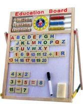 Av Shop 2 In 1 Magnetic Board With Alphabets & Numbers, multicolour