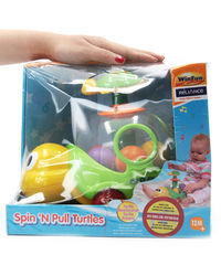 Winfun Spin N Pull Turtle, multicolor