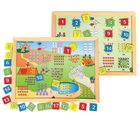 Skillo Magnetic Twin Play Tray - Number Scene (1-20) (Multicolor)