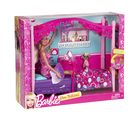 Barbie Glam Bedroom Furniture and Doll Set, multicolor