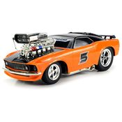 Saffire Super 5 Ford Mustang Boss 429 Remote Control RC Muscle Car Scale with Working Head & Tail Lights,  orange