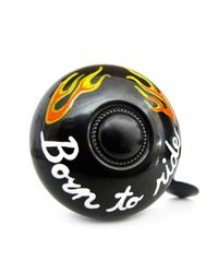 Stop To Shop Bike Bell Born To Ride, black
