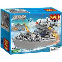 Saffire Army 193 Pieces Patrol Boat Building Blocks, multicolor