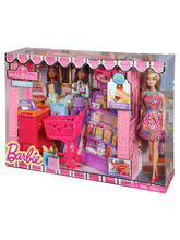 Barbie Shop With Doll Assortment, Multicolor