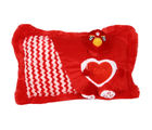 Joy Teddy Pillow, red