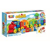Saffire Counting Train Building Blocks - 45 Pieces, multicolor