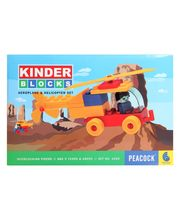 Peacock Kinder Blocks - Aeroplane & Helicopter Set, Multicolor