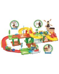 Saffire Mega Windmill 24 Train Set with Music and Lights, multicolor