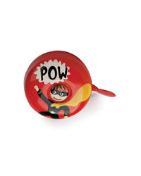 Stop To Shop Bike Bell Superhero,  red