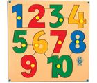 Skillo Numerical Shape Tray (110) (With Knobs) (Multicolor)