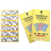 Tambola Tickets With Yellow Border,  yellow
