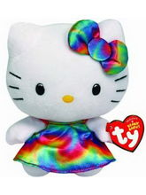 TY Hello KitTY Rainbow, Multicolor