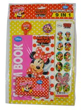 Disney Disney Colouring Set 9 In 1 Minnie Mouse, multicolour