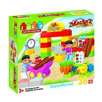 Saffire Super Market Building Blocks - 38 Pieces, multicolor