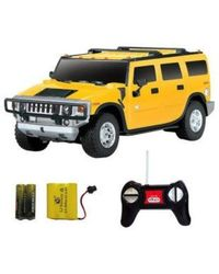 Shopcros R/C Rechargeable 1: 24 Hummer H2 Suv, yellow
