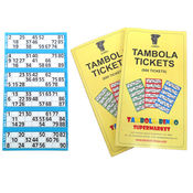 Tambola Tickets With Blue Border,  blue