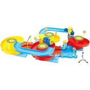 Saffire Puzzle Fun 13 Train Set with Upper and Lower Level Tracks, multicolor