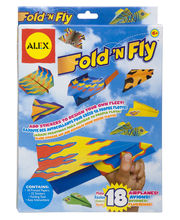 Fold N Fly Paper Airplanes, Multicolor