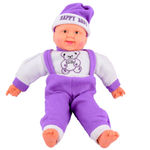 Deals India Musical Happy Baby Boy Laughing, purple