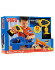 Fisher Price Drillin Action Tool Set - R9698
