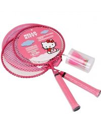 Hello Kitty Kids Badminton Rackets Pair Set With Shuttlecock,  pink