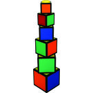 Rubik's Twisty Stack and Nest Cubes, multicolor