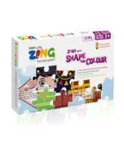 Iken Zing Book Zing With Colour And Shape (Girl)