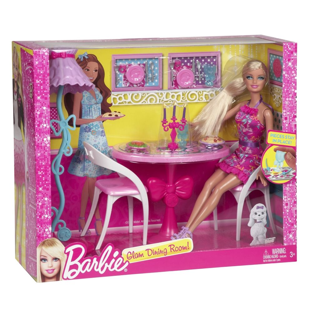 Barbie Glam Dining Room Furniture and Doll Set Price Buy  : x7942jpgd91c02d313999x1000x1000 from www.infibeam.com size 1000 x 1000 jpeg 149kB