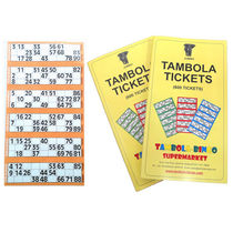 Tambola Tickets With Orange Border,  orange