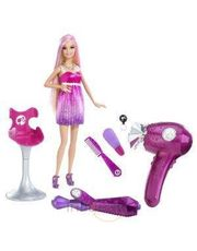 Barbie Loves Glitter Blowdryer Doll