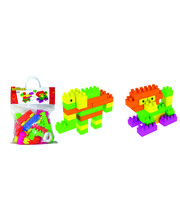 Buddyz Brilliant Blocks Animals Carry Bag for Kids, multicolor