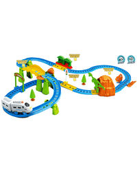 Saffire Kids Big Train with Flyover with Intelligent Sensing and Dialog with Light Effects, multicolor
