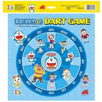 Itoys Doraemon Metallic Dart Board & Writing Board, multicolour