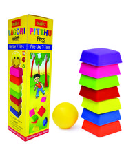 "Buddyz Lagori"" Pitthu"" Traditional Activity Toy For Kids, Multicolor"