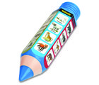 Buddyz Pencil - Shaped Pencil Box - Animals for Kids, multicolor