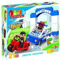Safire Town Police Blocks Set with Lights and Sound, multicolor