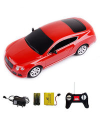 Shopcros R/C Rechargeable 1: 24 Bentley Continental, red