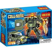 Saffire Coll Song Transformer Blocks - Mech Warrior and Jeep, multicolor