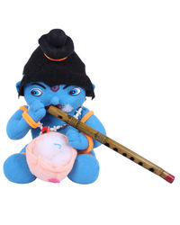 Joy Blue Lord Krishna With Flute, blue