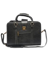 Bag Jack Elin Most Eyecatching Leather Laptop Bag, black