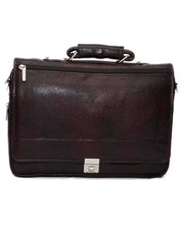 Bag Jack Geminorum Leather Office Bag, black