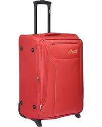 VIP Polyester 64 Cms Soft Sided Suitcase, red