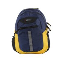 Bleu School Bag Ideal for Kids, yellow and navy