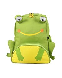Bleu School Bag Ideal for Kids, parrot green and yellow